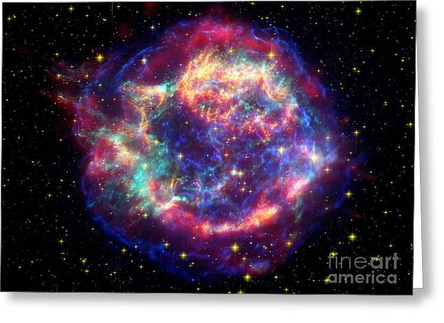 Recently Sold -  - Constellations Greeting Cards - Supernova Remnant Cassiopeia A Greeting Card by Stocktrek Images