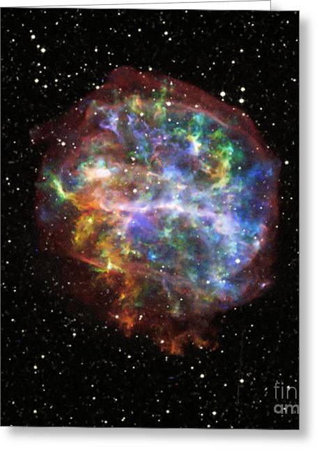 Pulsar Wind Nebula Greeting Cards - Supernova Remnant G292.0+1.8 Greeting Card by Nasa