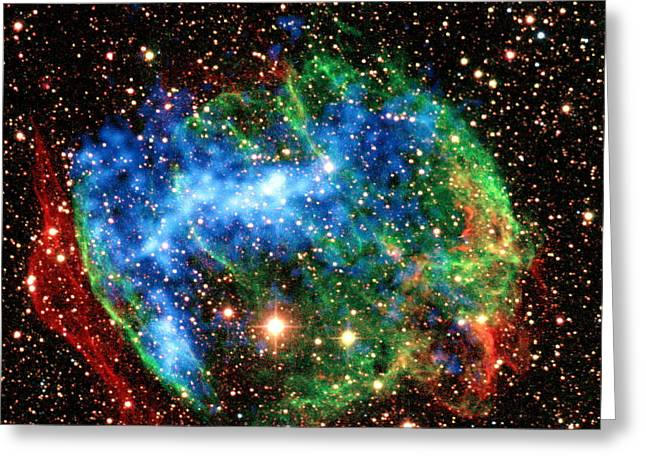 Gamma Ray Burst Greeting Cards - Supernova Remnant W49b Greeting Card by Science Source