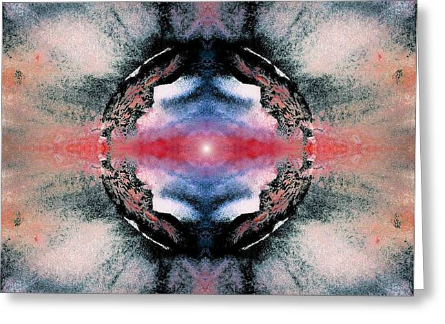 Chic Greeting Cards - Supernova Greeting Card by Sumit Mehndiratta