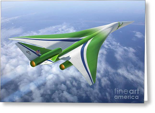 Aircraft Artist Greeting Cards - Supersonic Aircraft Design Greeting Card by NASA/Science Source
