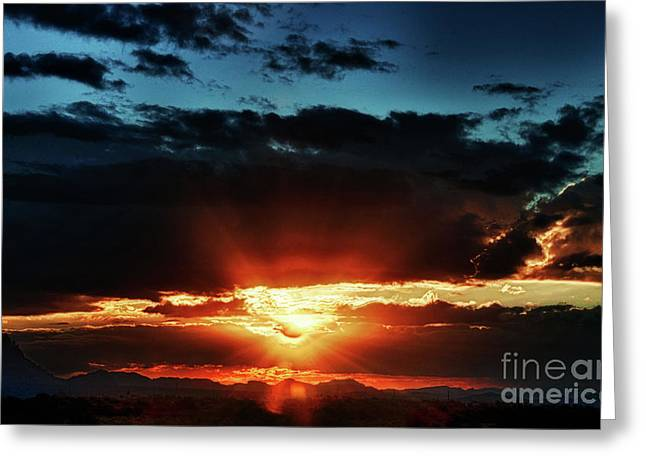 The Superstitions Greeting Cards - Superstition Sunrise Greeting Card by Saija  Lehtonen