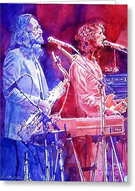 Famous Musicians Greeting Cards - Supertramp Greeting Card by David Lloyd Glover