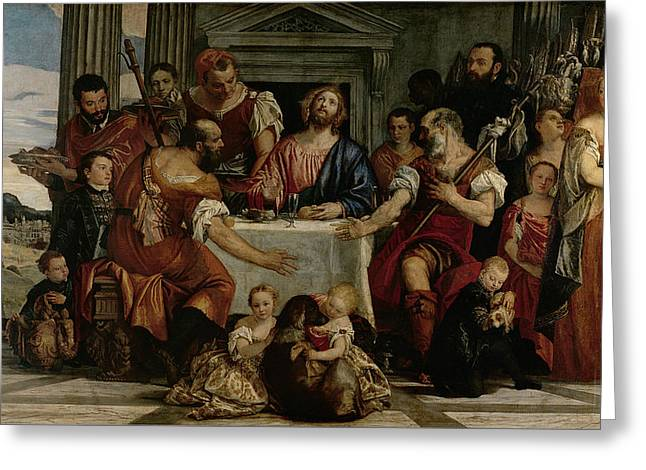 Child Jesus Greeting Cards - Supper at Emmaus Greeting Card by Veronese