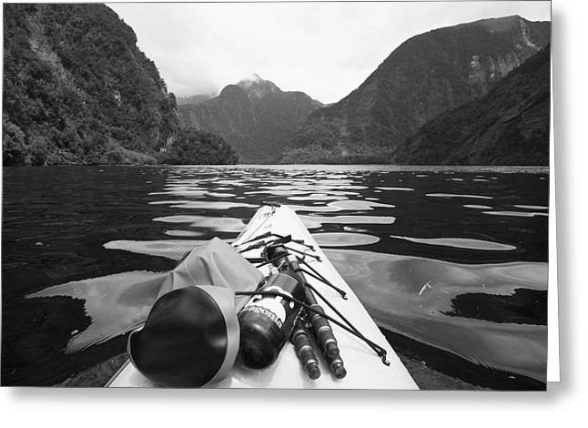 Doubtful Greeting Cards - Supplies On The End Of A Kayak Going Greeting Card by David DuChemin
