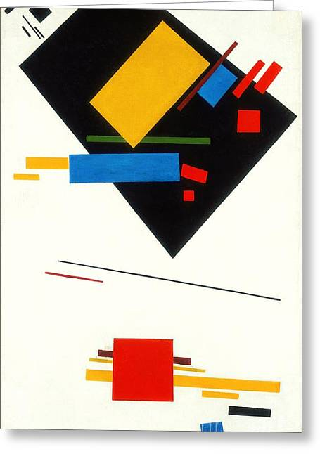 Malevich Greeting Cards - Supramatism Greeting Card by Pg Reproductions