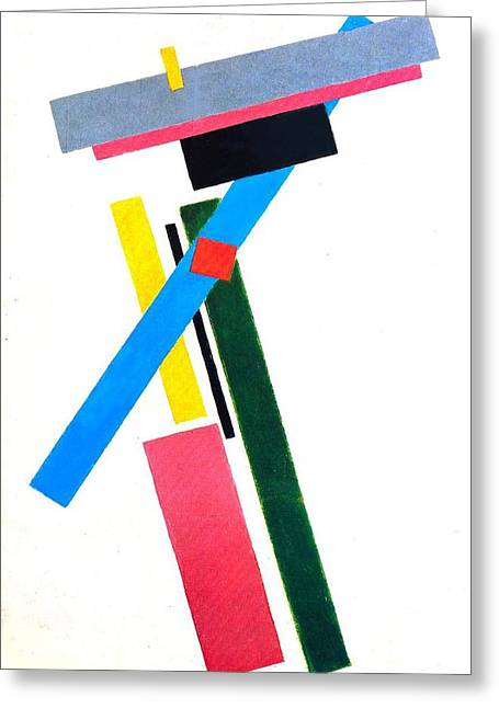 Malevich Greeting Cards - Suprematism Greeting Card by Kazimir Severinovich Malevich