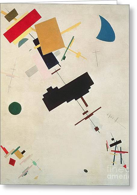 Malevich Greeting Cards - Suprematist Composition No 56 Greeting Card by Kazimir Severinovich Malevich