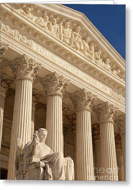 Court Of Law Greeting Cards - Supreme Court Greeting Card by Brian Jannsen