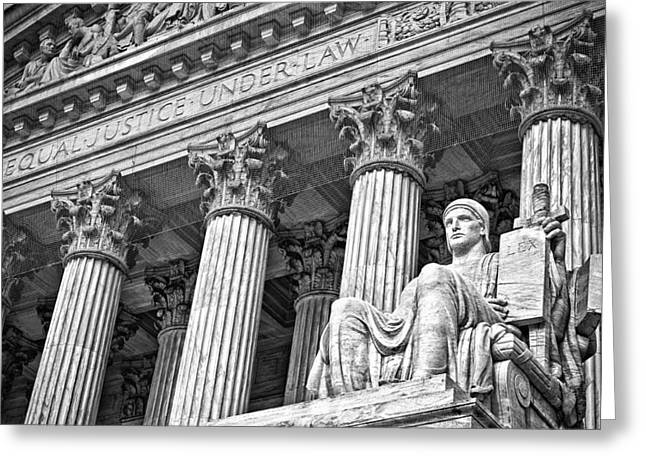 Supreme Court Building 18 Greeting Card by Val Black Russian Tourchin