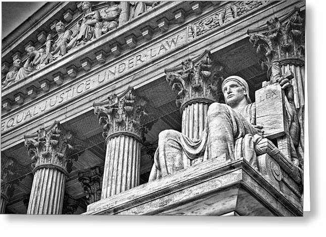 Supreme Court Building 20 Greeting Card by Val Black Russian Tourchin