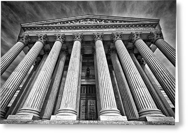 Supreme Court Building 8 Greeting Card by Val Black Russian Tourchin