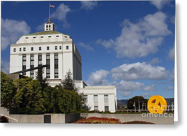 Supreme Court of California . County of Alameda . Oakland California View From Oakland Museum . 7D13 Greeting Card by Wingsdomain Art and Photography