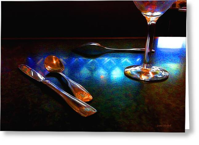 Table Wine Greeting Cards - Sur La Table Greeting Card by Donna Blackhall