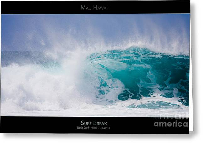 Surf Lifestyle Greeting Cards - Surf Break - Maui Hawaii Posters Series Greeting Card by Denis Dore
