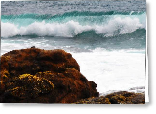 Aquatic Greeting Cards - Surf Breaking Near Coast Greeting Card by Phill Petrovic