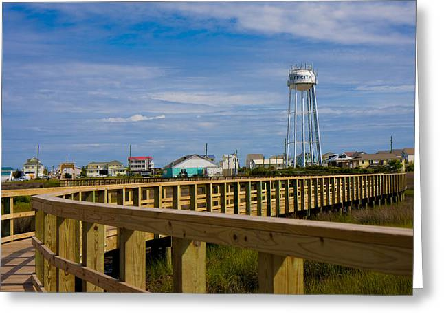 Topsail Island Greeting Cards - Surf City Soundside Park Greeting Card by Betsy A  Cutler