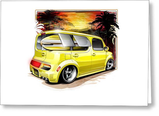 Surf Cube Greeting Card by Brian Stupski