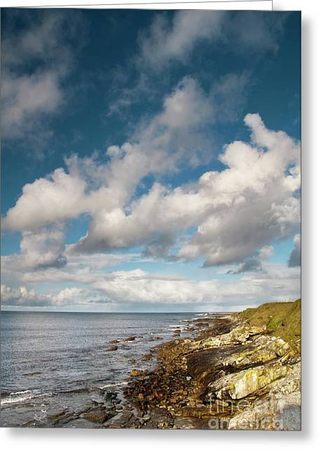 Ballycastle Greeting Cards - Surf meets turf Greeting Card by Marion Galt