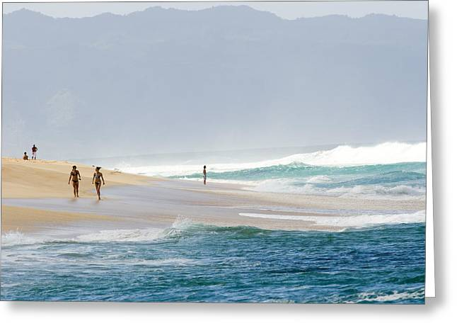 Types Of Clothing Greeting Cards - Surf pounds the shore at Greeting Card by Charles Kogod