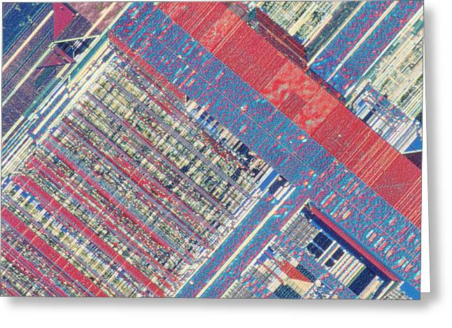 Surface Of Integrated Chip Greeting Card by Michael W. Davidson