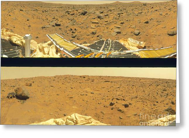 Imps Greeting Cards - Surface Of Mars Greeting Card by NASA / Science Source