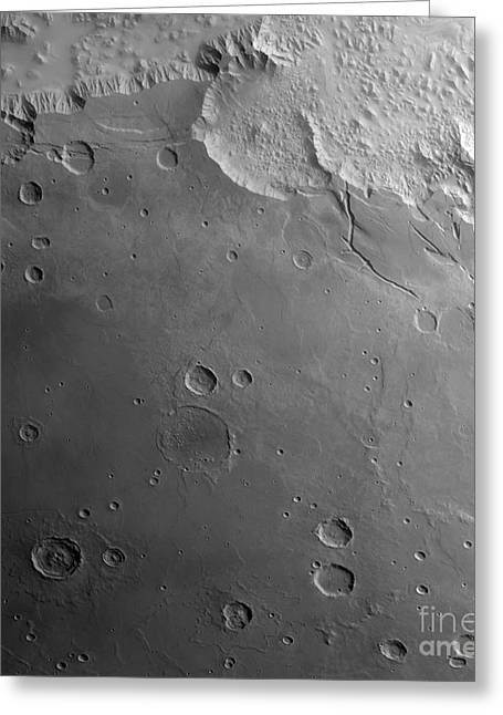 Planet Mars Greeting Cards - Surface Of Mars Greeting Card by Stocktrek Images