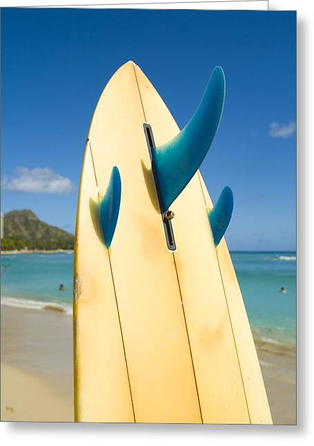 Surfing Art Greeting Cards - Surfboard Greeting Card by Dana Edmunds - Printscapes