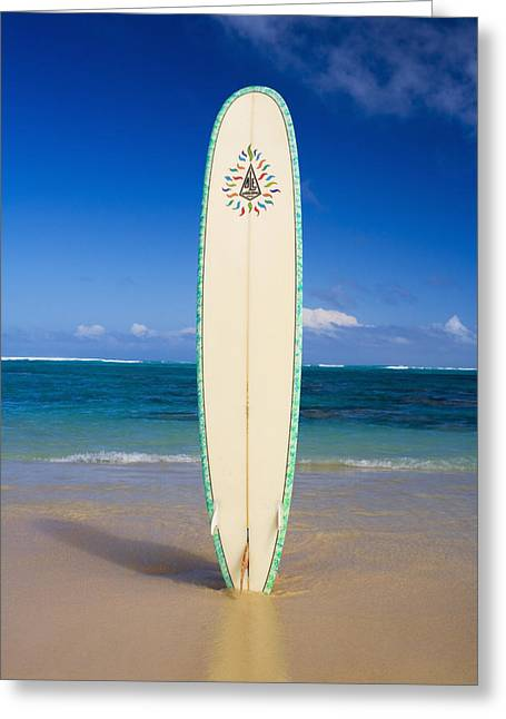 Surfing Art Greeting Cards - Surfboard Greeting Card by Tomas del Amo - Printscapes