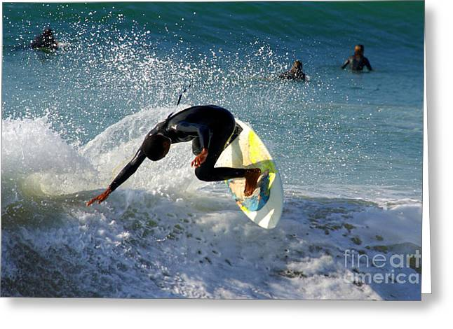 Dangerous Talent Greeting Cards - Surfer Greeting Card by Carlos Caetano
