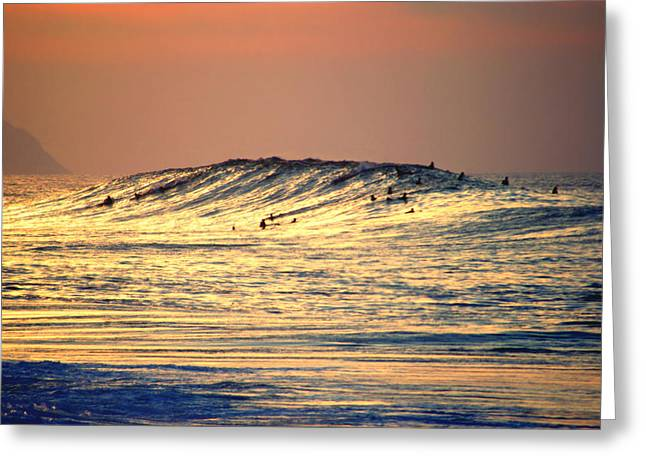 Skystudiohawaii Greeting Cards - Surfers Gold Greeting Card by Kevin Smith