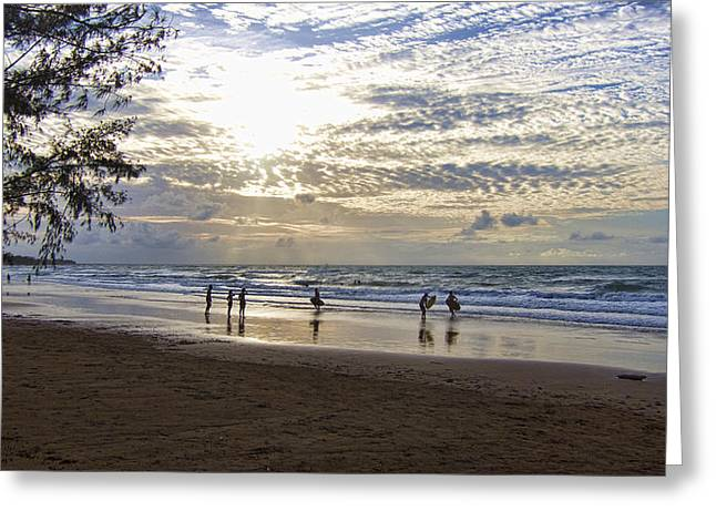 Top Surfer Greeting Cards - Surfers Paradise Greeting Card by Douglas Barnard
