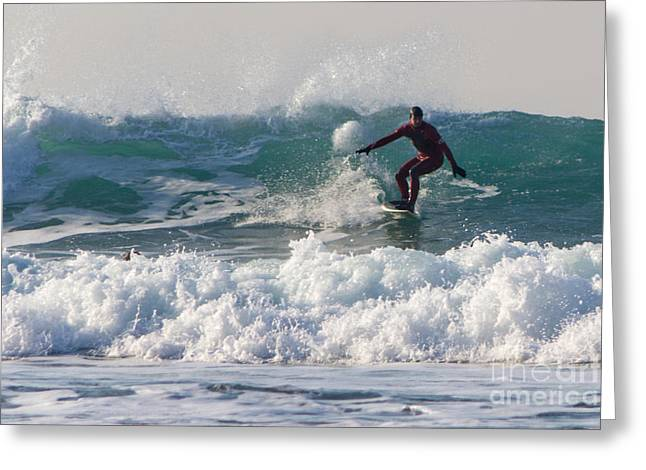 Surfing Photos Greeting Cards - Surfers Paridise Greeting Card by Brian Roscorla