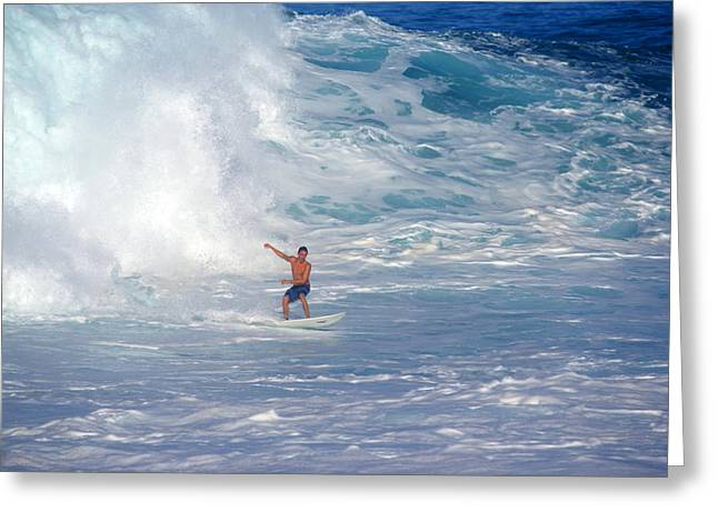 Skystudiohawaii Greeting Cards - Surfers Soup Greeting Card by Kevin Smith