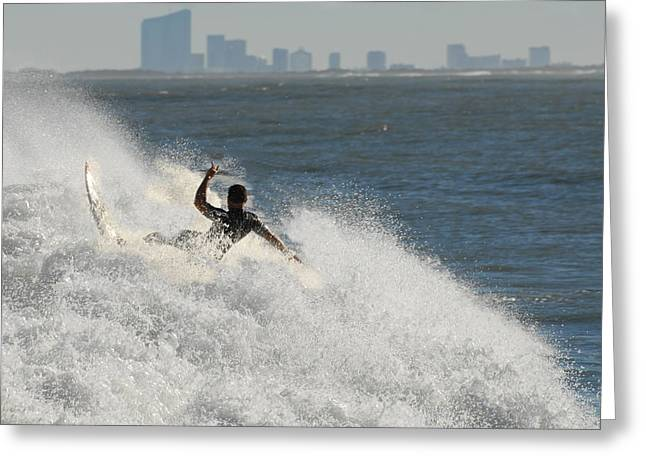 Take Over Greeting Cards - Surfinf 94 Greeting Card by Joyce StJames