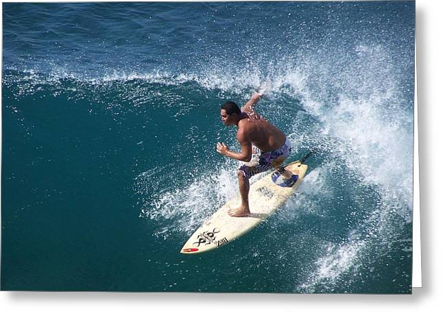 Surfing Greeting Cards - Surfing 005 Greeting Card by Earl Bowser