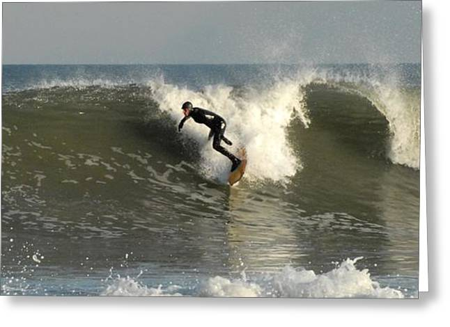 Surfing Art Greeting Cards - Surfing 142 Greeting Card by Joyce StJames