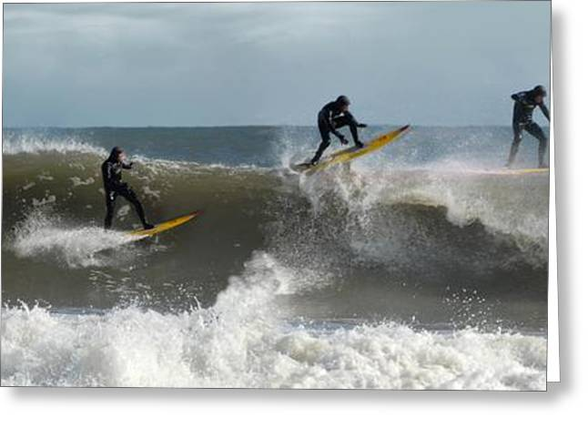 Surfing Art Greeting Cards - Surfing 152 Greeting Card by Joyce StJames