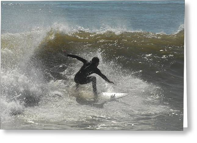 Surfing Photos Greeting Cards - Surfing 191 Greeting Card by Joyce StJames