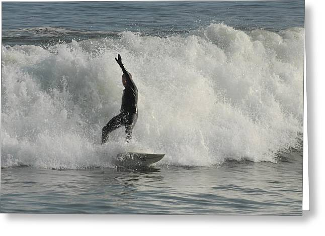 Surfing Art Greeting Cards - Surfing 226 Greeting Card by Joyce StJames