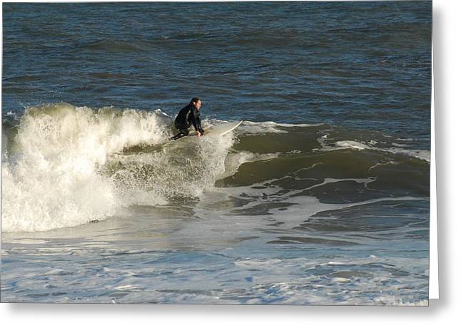 Kahuna Beach Greeting Cards - Surfing 377 Greeting Card by Joyce StJames