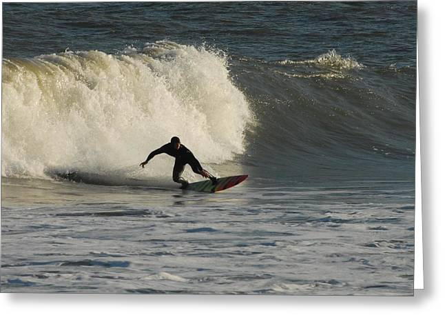 Kahuna Beach Greeting Cards - Surfing 379 Greeting Card by Joyce StJames