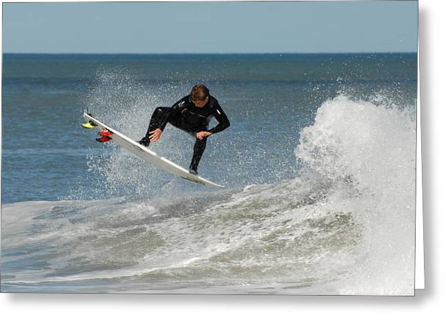 Surfing Photos Greeting Cards - Surfing 399 Greeting Card by Joyce StJames