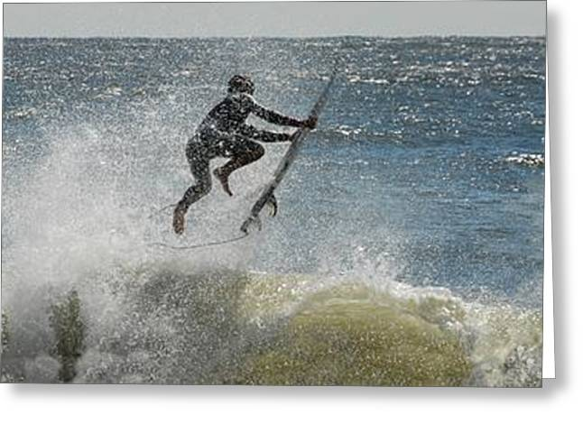 Surfer Art Greeting Cards - Surfing 404 Greeting Card by Joyce StJames