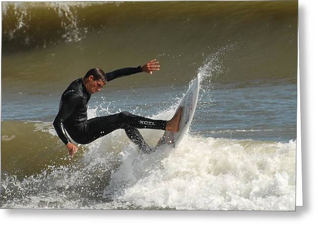 Take Over Greeting Cards - Surfing 408 Greeting Card by Joyce StJames