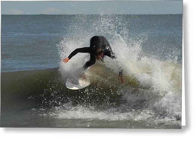Take Over Greeting Cards - Surfing 409 Greeting Card by Joyce StJames