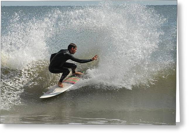 Take Over Greeting Cards - Surfing 410 Greeting Card by Joyce StJames