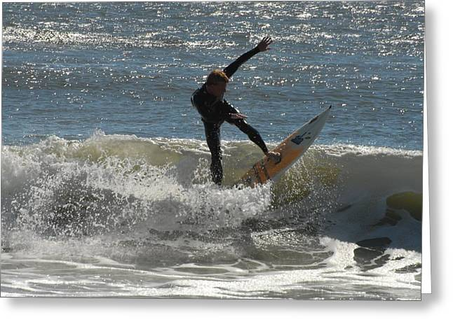 Take Over Greeting Cards - Surfing 412 Greeting Card by Joyce StJames