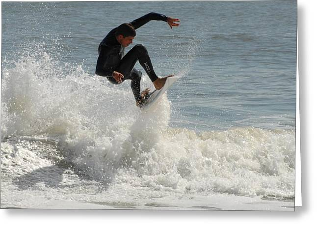 Surfing Art Greeting Cards - Surfing 421 Greeting Card by Joyce StJames