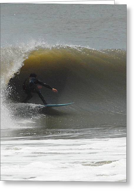 Surfing Art Greeting Cards - Surfing 76 Greeting Card by Joyce StJames